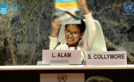 8 Years old child urging leaders to achieve the SDGs before 2030